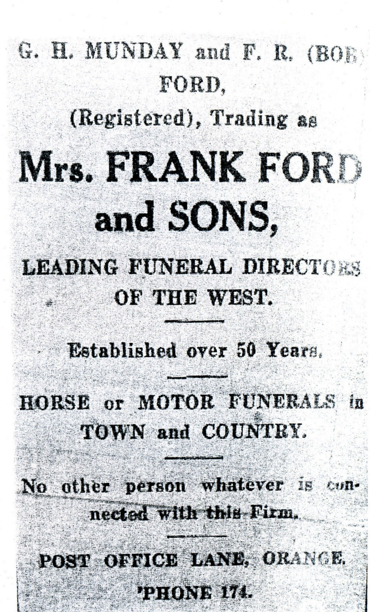 Bob Ford Funeral director
